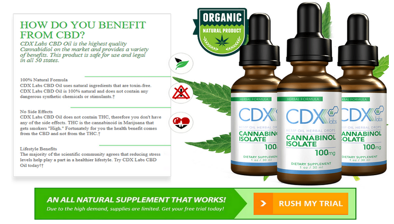 CDX Labs CBD Oil 2